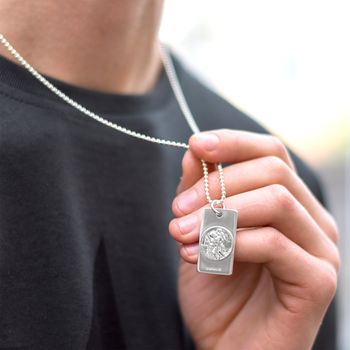 Mens St Christopher Necklace