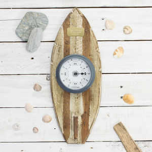 'Surf's Up' Surfboard With Clock Or Tide Clock - kitchen