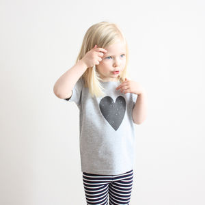 Scribble Heart T Shirt - t-shirts & tops