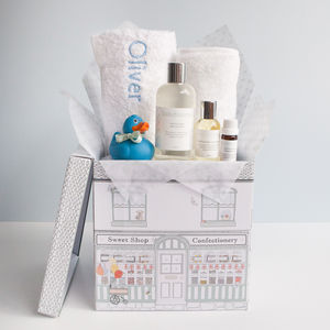 Personalised Baby Boy Bathtime Hamper - gift sets