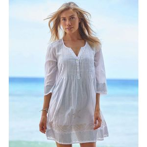 Aspiga Margarita Pleated Tunic White/Gold - dresses