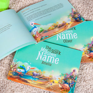 Deluxe Hard Bound My Given Name Personalised Book - modern christening gifts