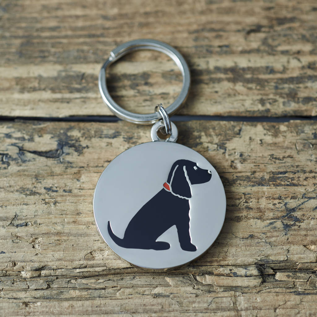 Black Cocker Spaniel ID Dog Tag