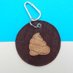 Round Cork Leather Poo Bag Holder - dogs