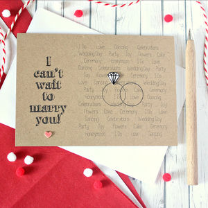 I Can't Wait To Marry You, Wedding Day Card - keepsakes