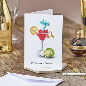 Cosmopolitan Birthday Swizzle Stick Card