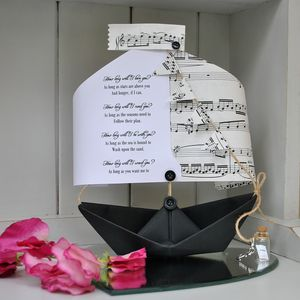 'How Long Will I Love You' Paper Boat Keepsake - shop by category