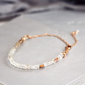 Rose Gold And Topaz Bracelet - birthstone jewellery gifts