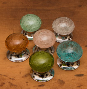Bubble Glass Mortice Knobs