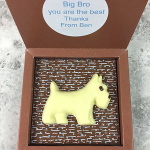 Personalised Message Scottie Dog Chocolate