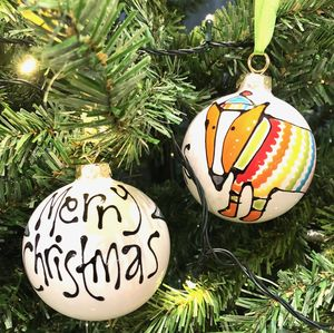 Personalised Ceramic Christmas Bauble - tree decorations