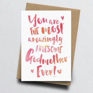 'The Most Amazingly Awesome Godmother' Greeting Card