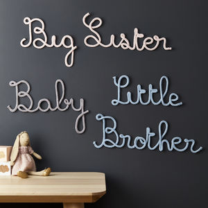 Brother And Sister Knitted Signs - children's room