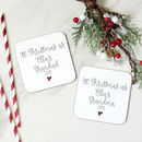 1st Christmas As Grandparents Personalised Coaster Set