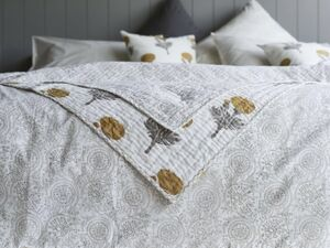 Raj Design Reversible Cotton Hand Printed Throw