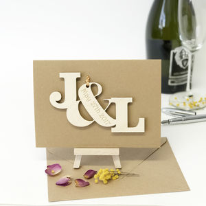 Personalised Entwined Letters Wedding/Engagement Card - wedding cards
