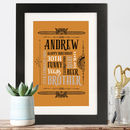 Personalised Vintage Style Men's Print