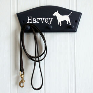 English Bull Terrier Personalised Dog Lead Hook