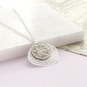 Dates 1928 To 1967 Sixpence Leaf Necklace