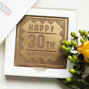 Personalised Happy Birthday Chocolate Card - novelty chocolates
