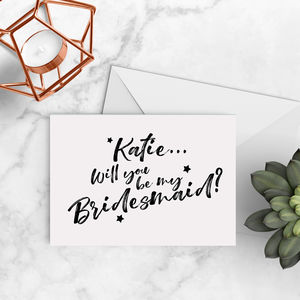 'Will You Be My Bridesmaid' Card A5