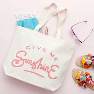 'Give Me Sunshine' Canvas Beach Bag - new gifts for her