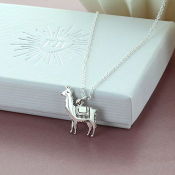 Llama Sterling Silver Charm Necklace