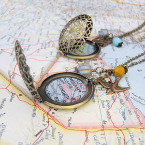 Personalised Location Map Locket