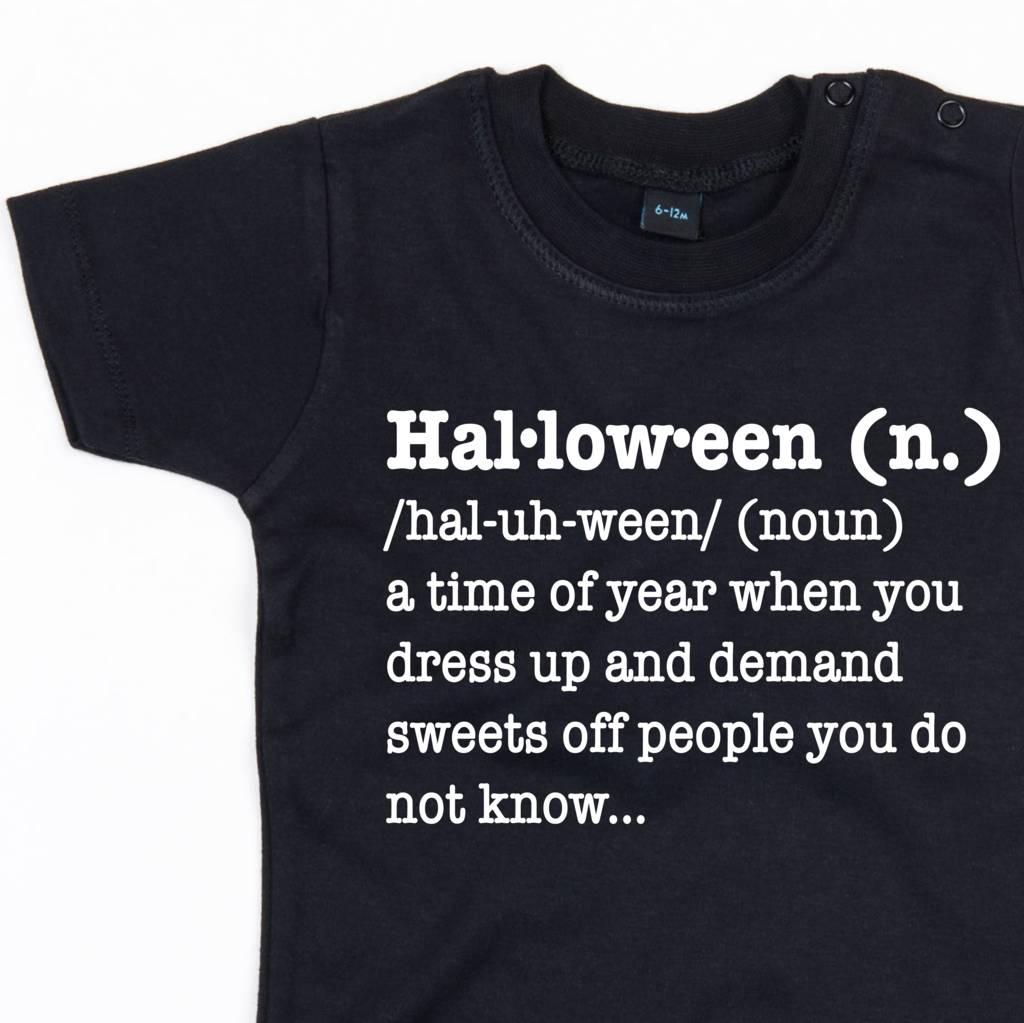 halloween definition t shirt by dadsandkids | notonthehighstreet