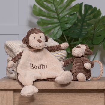 Personalised Cordy Roy Baby Monkey Comforter And Toy