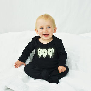 'Boo!' Halloween Baby Romper Sleepsuit - summer sale