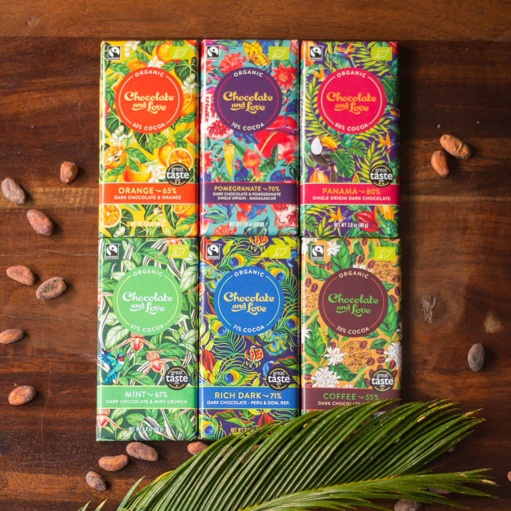 Vegan Organic Fairtrade Chocolate Selection