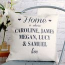 Thumb home is where we live cushion