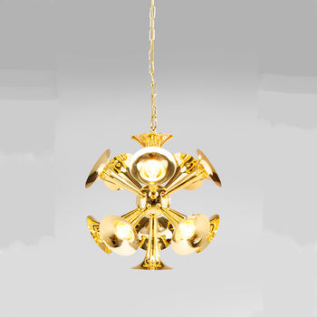 Brass Trumpet Chandelier