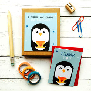 Children's Mini Thank You Cards Penguin