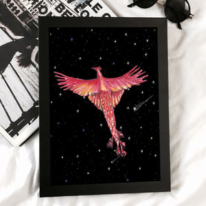 Phoenix Art Print - children's room