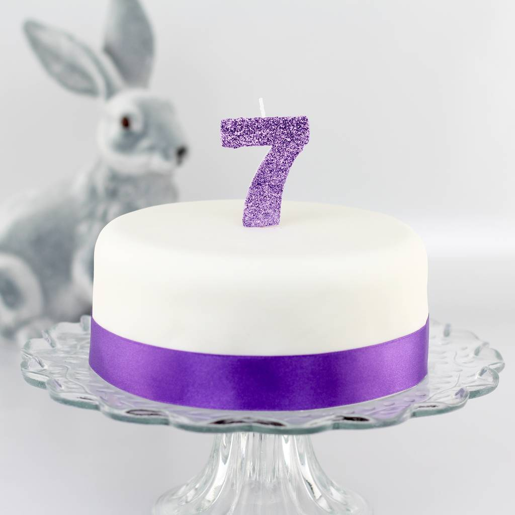 Handmade Glitter Number Birthday Candle By Clever Little Cake Kits