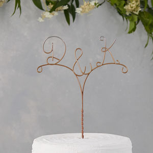 Personalised Arrow Initial Ombre Cake Topper - table decorations