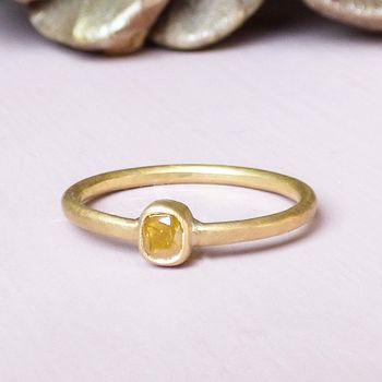 Sunshine 18ct Fairtrade Gold Ring With Diamond