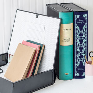 Personalised Modern Book Box File And Ring Binders