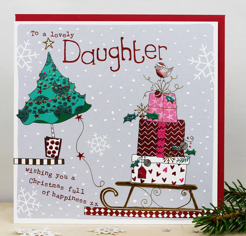 Christmas Card For A Daughter