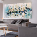 Large Original Abstract Painting 60x30 Inches