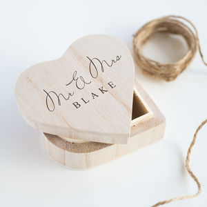 Mr And Mrs Heart Favour Box