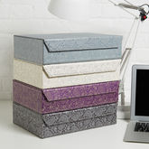 Recycled Paisley A4 Storage Box File - stationery