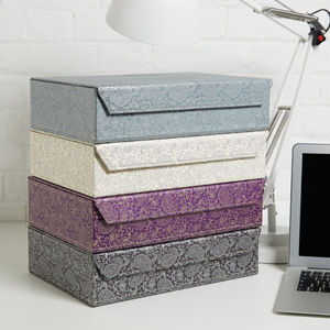 Recycled Paisley A4 Storage Box File