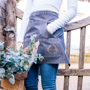 Personalised Denim Gardening Apron - 60th birthday gifts