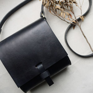 Handmade Leather Mini Satchel - cross-body bags