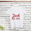 Personalised Brother Cotton T-Shirt Set