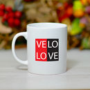 'Velo Love' Ceramic Bike Mug