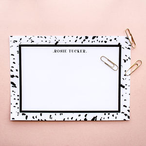Ink Print Personalised Name Postcard Set